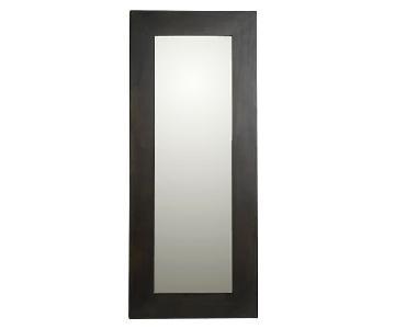 West Elm Chunky Wood Floor Mirror in Chocolate