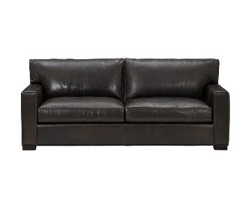 Crate & Barrel Axis II Leather Sofa + 2 Chairs & 2 Ottomans