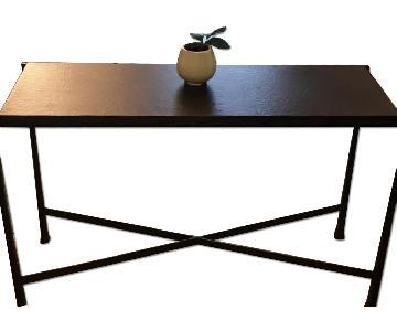 crate u0026 barrel coffee table console table