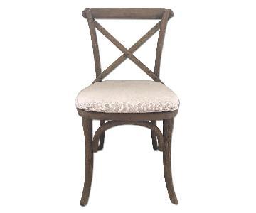 Restoration Hardware Madeleine Side Chairs w/ Belgian Linen