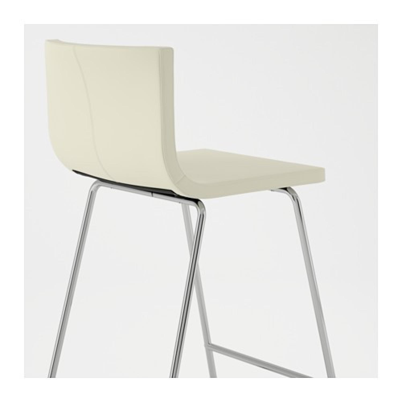 ikea bernhard white leather bar stools w backrest2 - White Leather Bar Stools