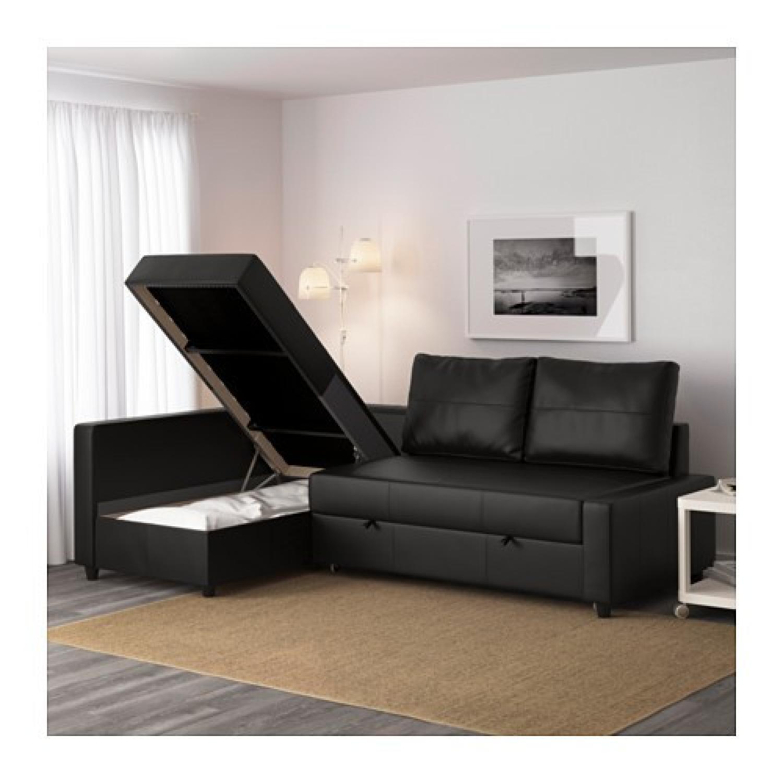 ikea friheten black leather sectional sleeper sofa3