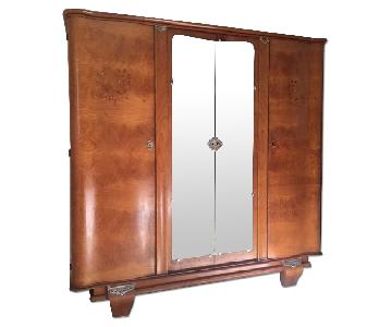 Heirloom French Light Indian Rosewood Armoire