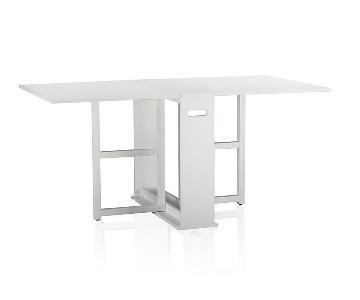 Crate & Barrel Span White Gateleg Dining Table