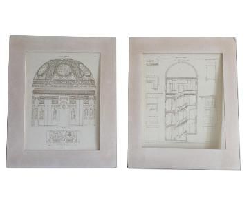 Restoration Hardware Matted Drawings