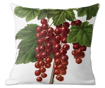 Flora and Fauna Botanique de Gand Red Currant Pillow