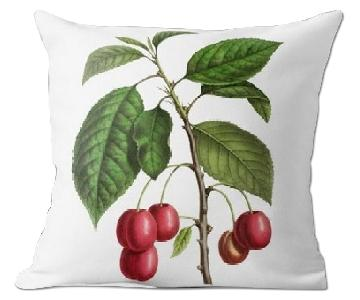 Flora and Fauna Cherry Annales de la Societe Cushion