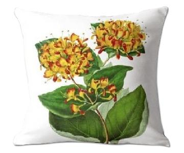 Flora and Fauna Honeysuckle Annales de la Societe Royale Pillow