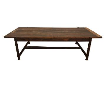 Danish Mid Century Modern Rosewood Flip Top Coffee Table