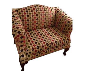 Osborne & Little fabric Upholstered Loveseat
