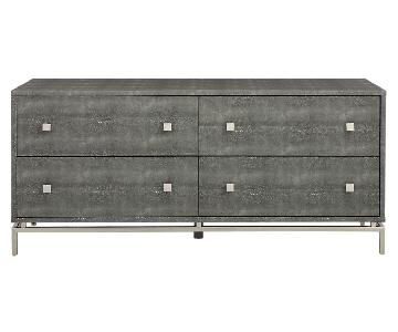 CB2 Shagreen Embossed Low Dresser