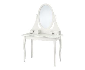 Ikea Hemnes White Dressing Table w/ Mirror