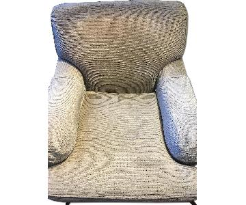 Oversized Oatmeal Chenille Easy Chair