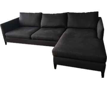 Crate & Barrel Charcoal Grey Sectional