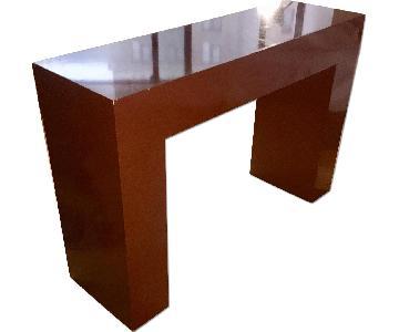 West Elm Burnt Orange Console Table
