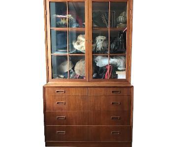 Danish Mid Century Dresser w/ Hutch