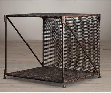 Restoration Hardware Metal Table in Rust