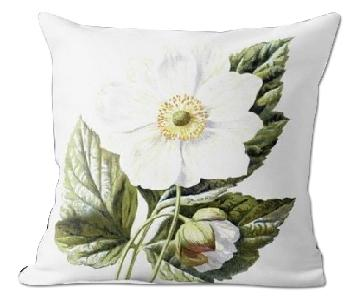 Flora and Fauna Japanese Anemone Pillow