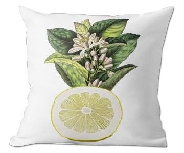 Flora and Fauna Lime Risso Poiteau Pillow