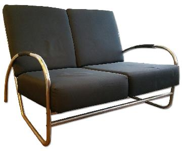 Bauhaus Black Loveseat