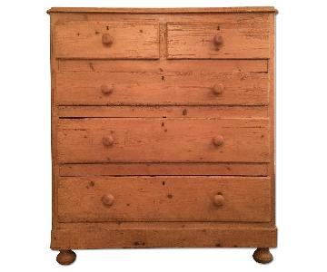Antique Rustic Pine Dresser