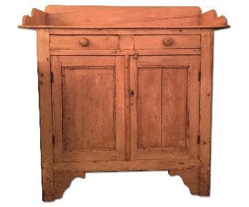 Antique Rustic Pine Sideboard