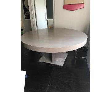 Desiron Round Grey Oak Dining Room Table