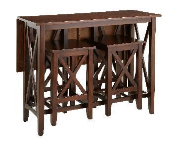 Pier 1 Kenzie Java 3 Piece Breakfast Table Set
