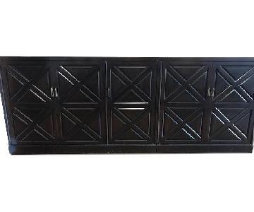 2 Piece Mahogany Sideboard