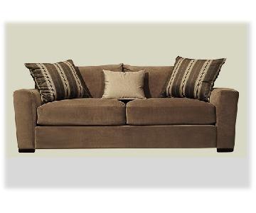 Raymour & Flanigan Carlin Microfiber Sofa