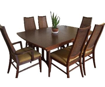 Vintage Mid-Century Expandable Dining Table w/ 6 Chairs