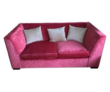 Boutique Pink Velvet Couch