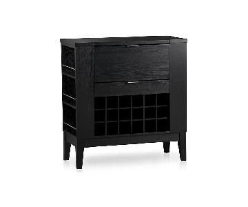 Crate & Barrel Parker Spirits Ebony Cabinet Bar