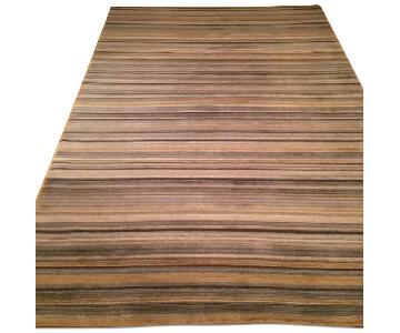 Crate & Barrel Striped Wool Rug