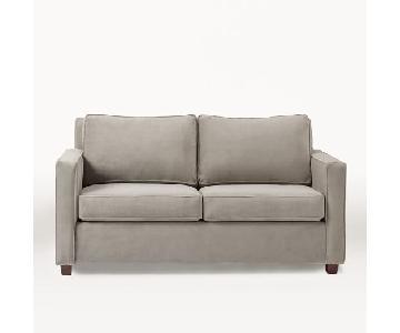 West Elm Henry Dove Grey Queen Sleeper Sofa