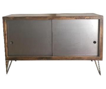 Custom Made Recycled Wood Credenza