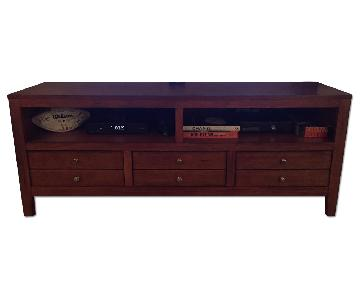 Raymour & Flanigan Wood Media Console