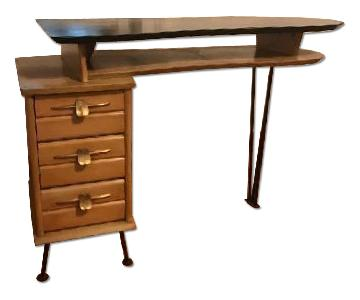 Handcrafted Mid Century Desk