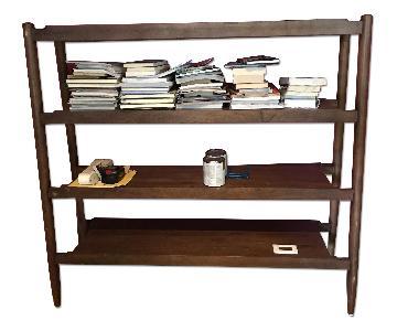 Crate & Barrel A Frame Wooden Bookshelf