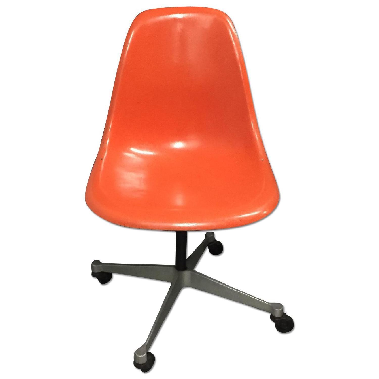 Vintage 1960s Eames Swivel  Orange Chair - image-0