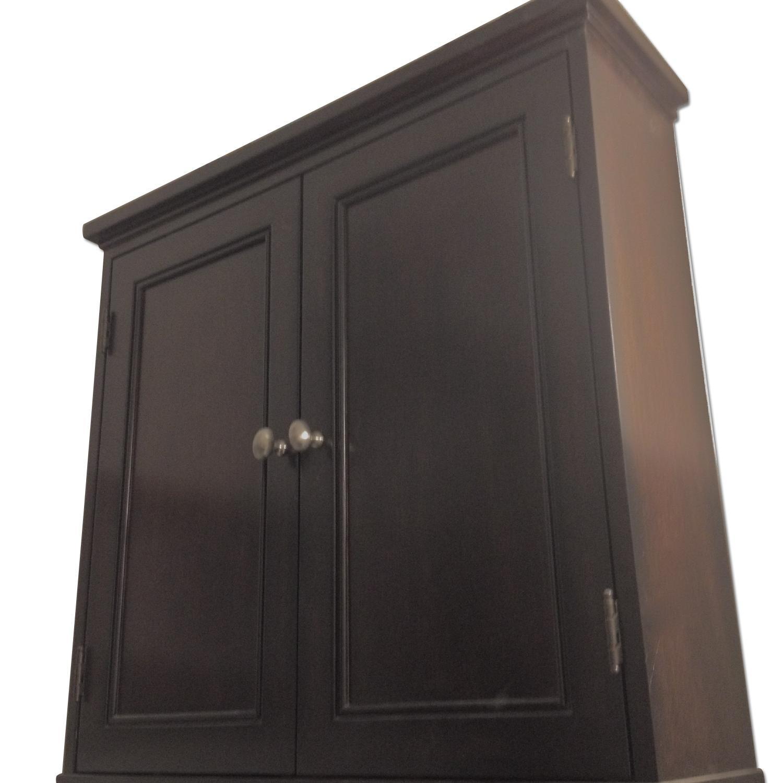 Pottery Barn Cabinet + Matching Shelf