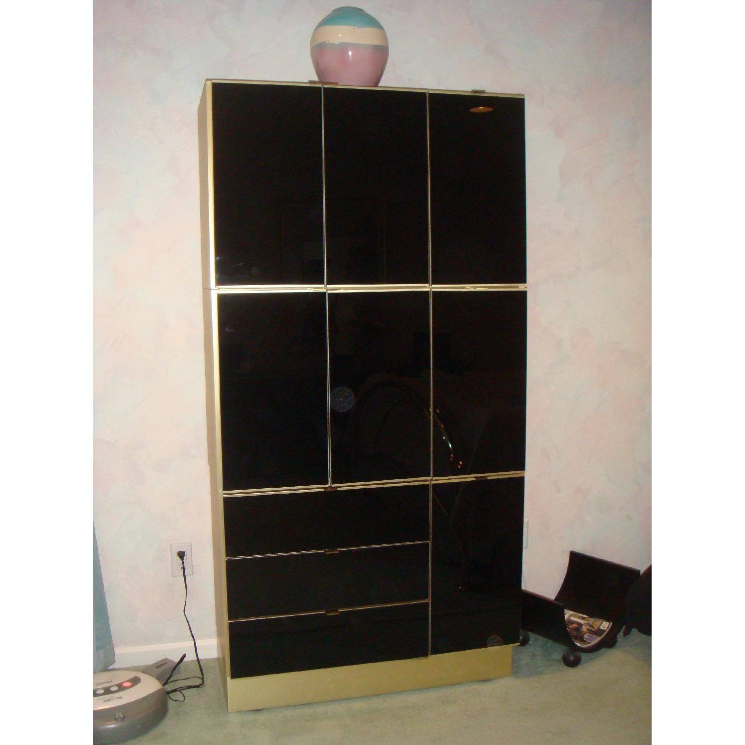 5 Piece Contemporary Brass & Glass Bedroom Furniture - image-2