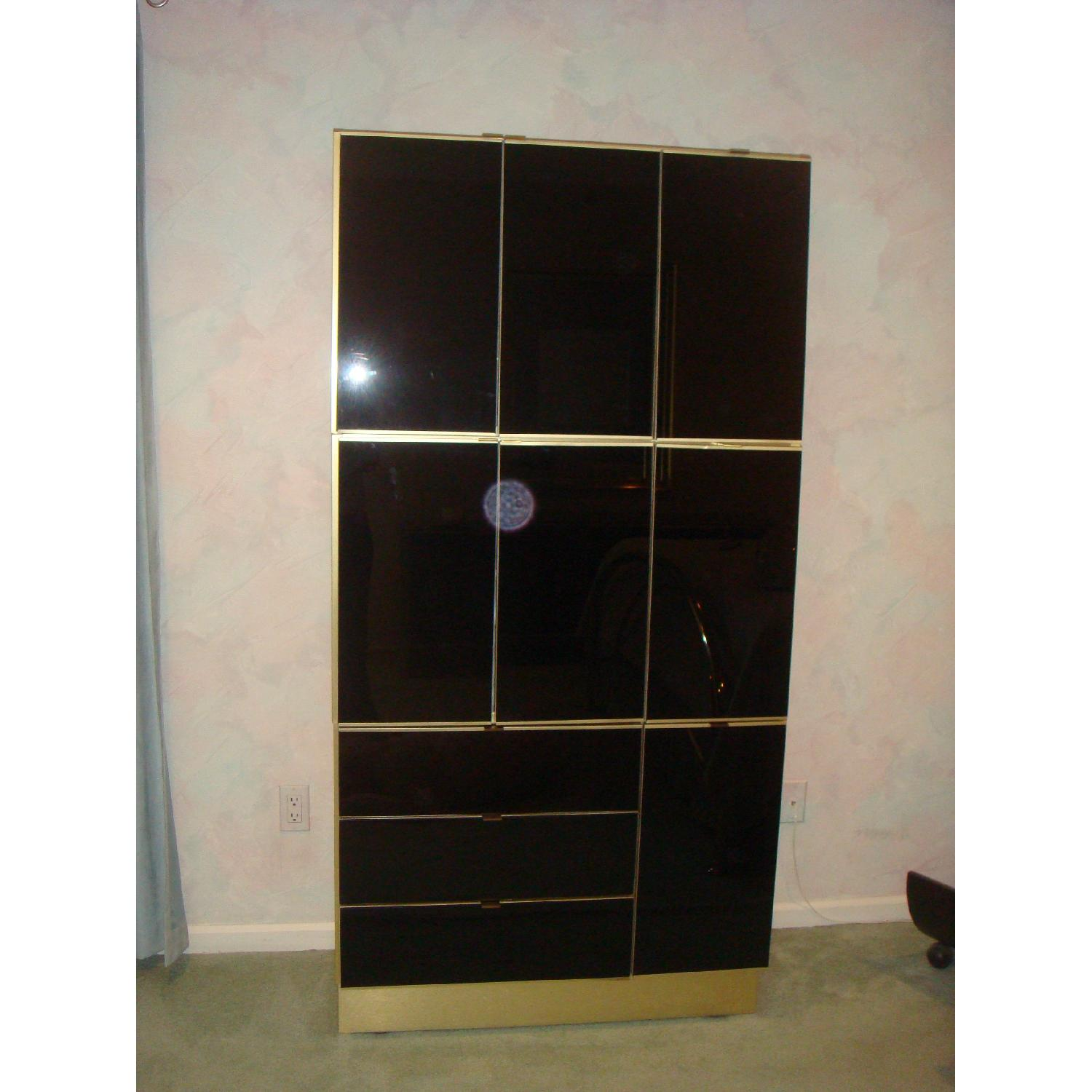 5 Piece Contemporary Brass & Glass Bedroom Furniture - image-9