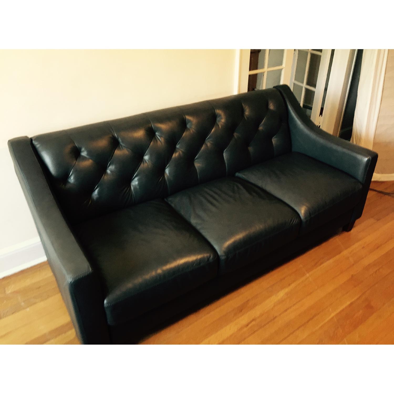 Macy\'s Leather Sofa