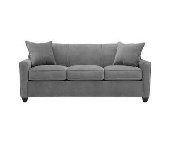 Raymour & Flanigan Grey 3-Seater Sofa
