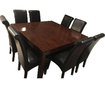 Hudson Solid Wood Square 9 Piece Dining Set