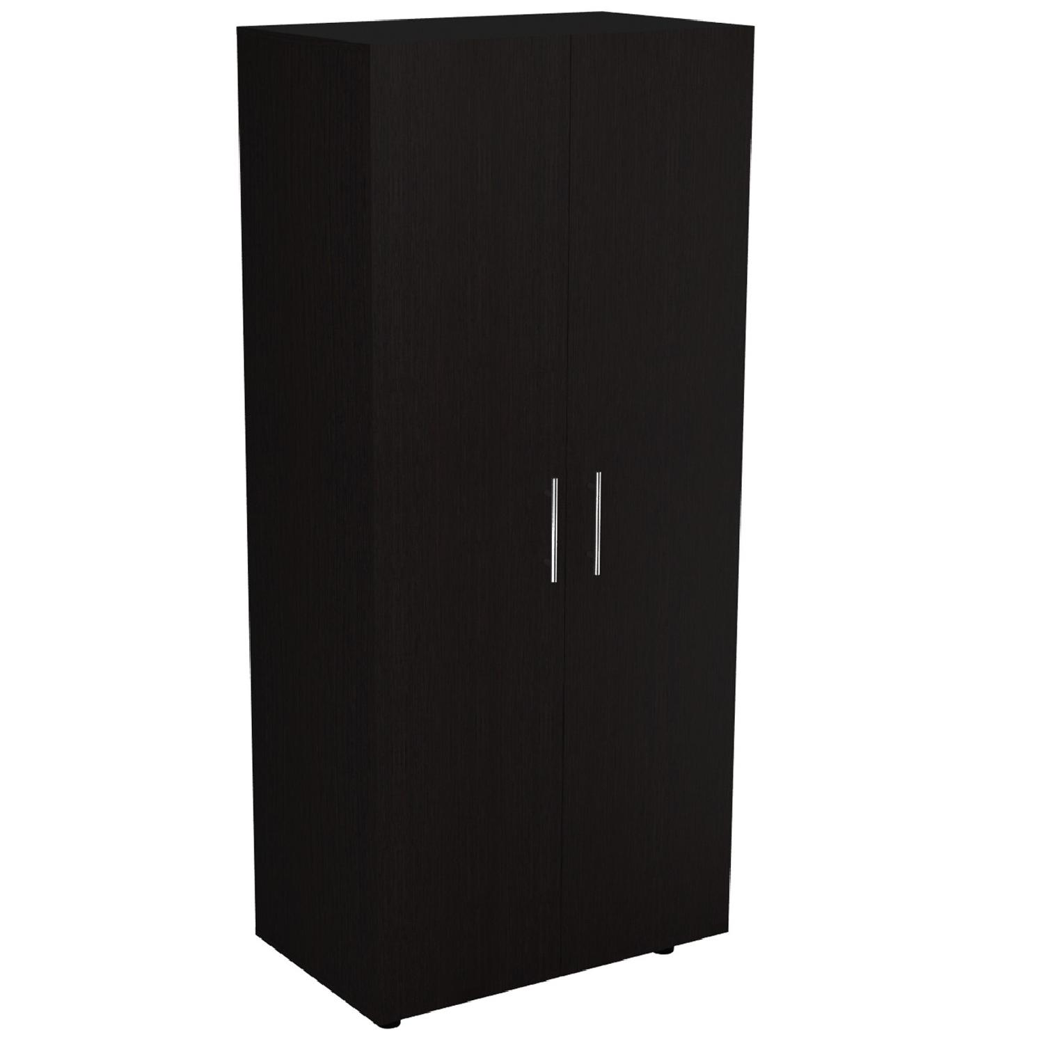 RTA Design Tera Collection 2-Doors Modern Wardrobe in Black Espresso Wenge