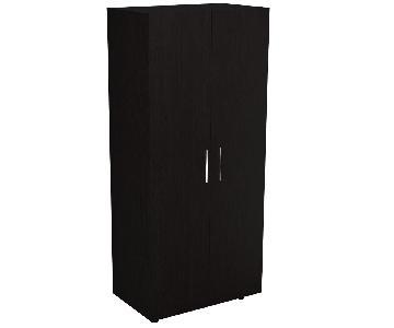 RTA Design Tera Collection 2-Doors Modern Wardrobe in Black