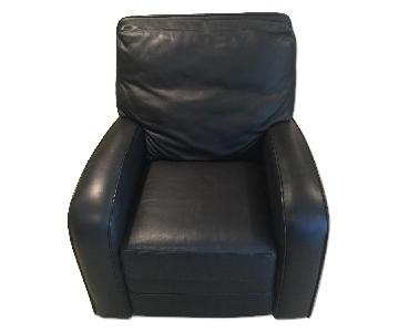 Macy's Black Leather Recliner