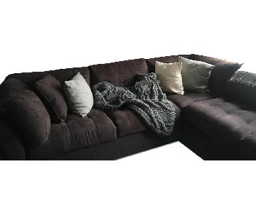 Miscrosuede Modular Sectional Sofa